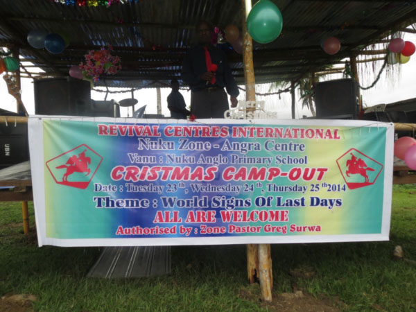 Christmas Camp - Nuku Zone - Angra Centre PNG