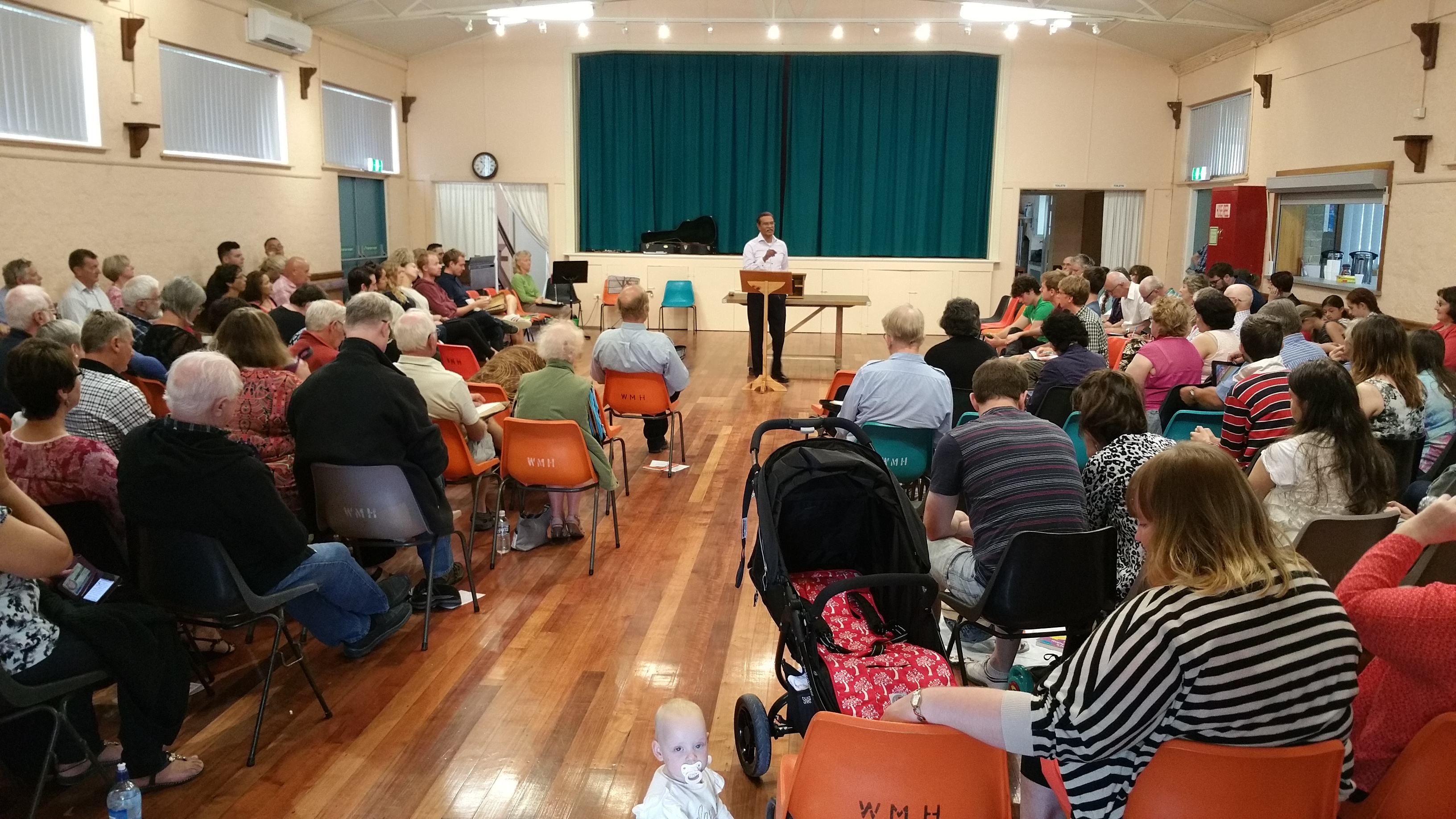 Sunday Communion Meeting in the Town Hall.