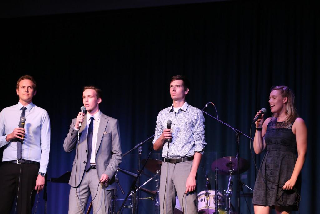 Melbourne band 'VanGray' performing.