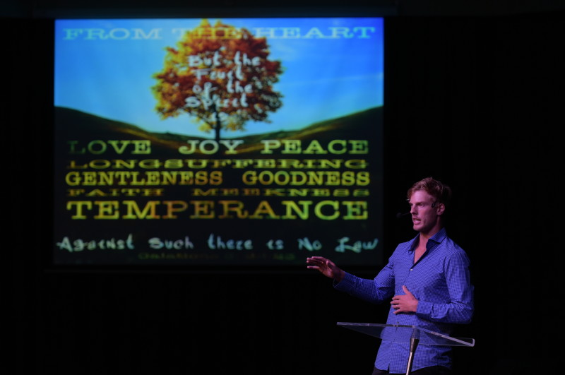 'From the Heart', speaking on the Fruits of the Spirit.