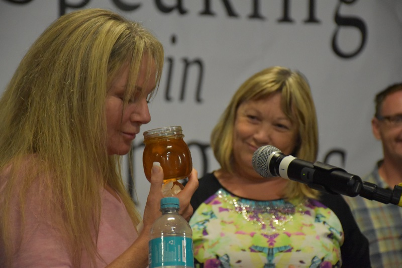 Ruth Stewart and Ros Ryan - Honey tasters
