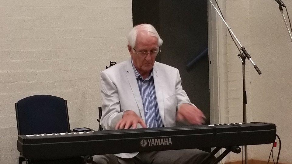 Mr Eddy Vanderstadt Snr performing in the meeting.
