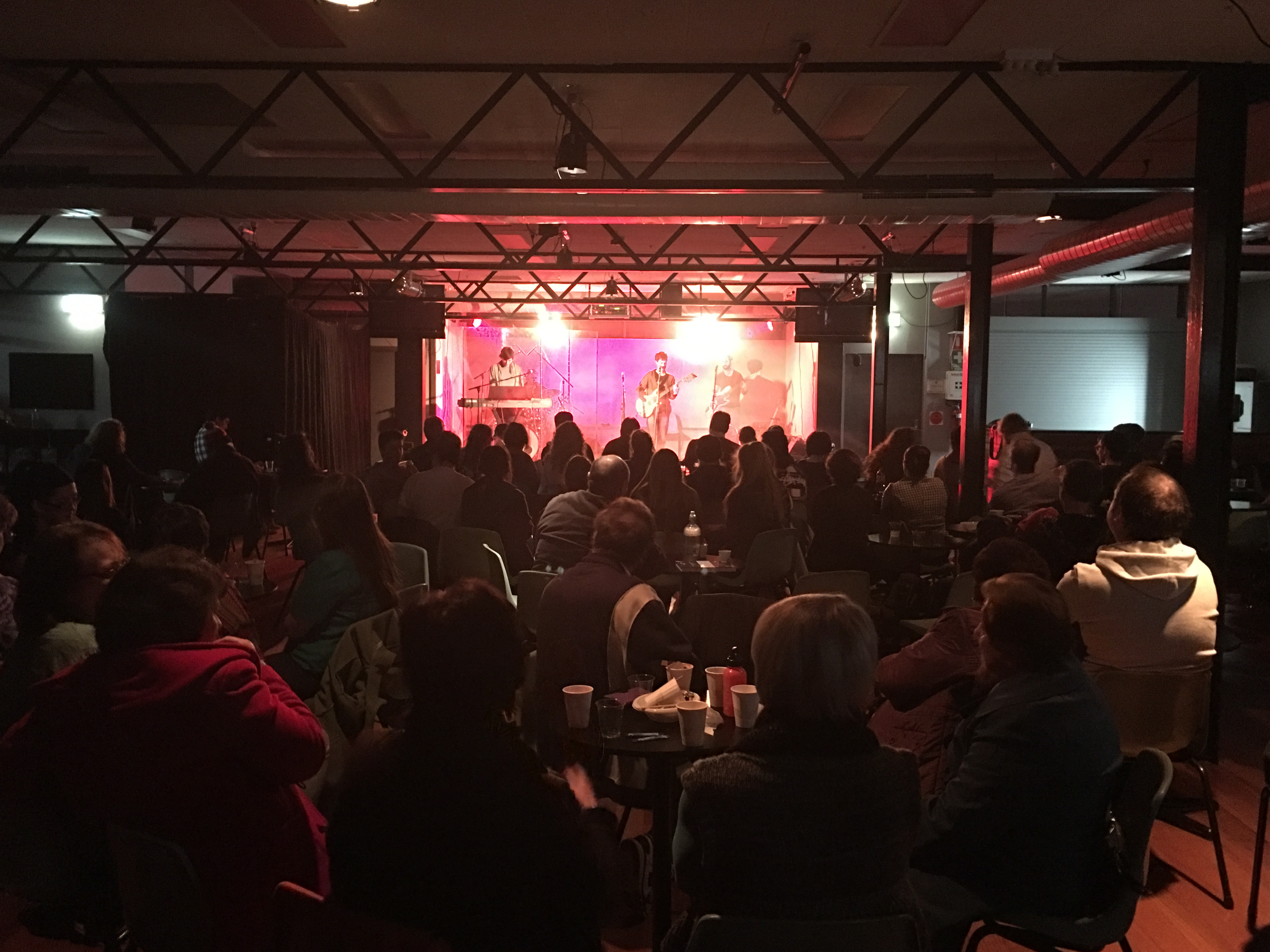 The Dining Room packed out for the concert.