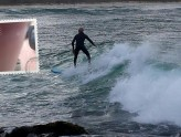 Maurie surfing