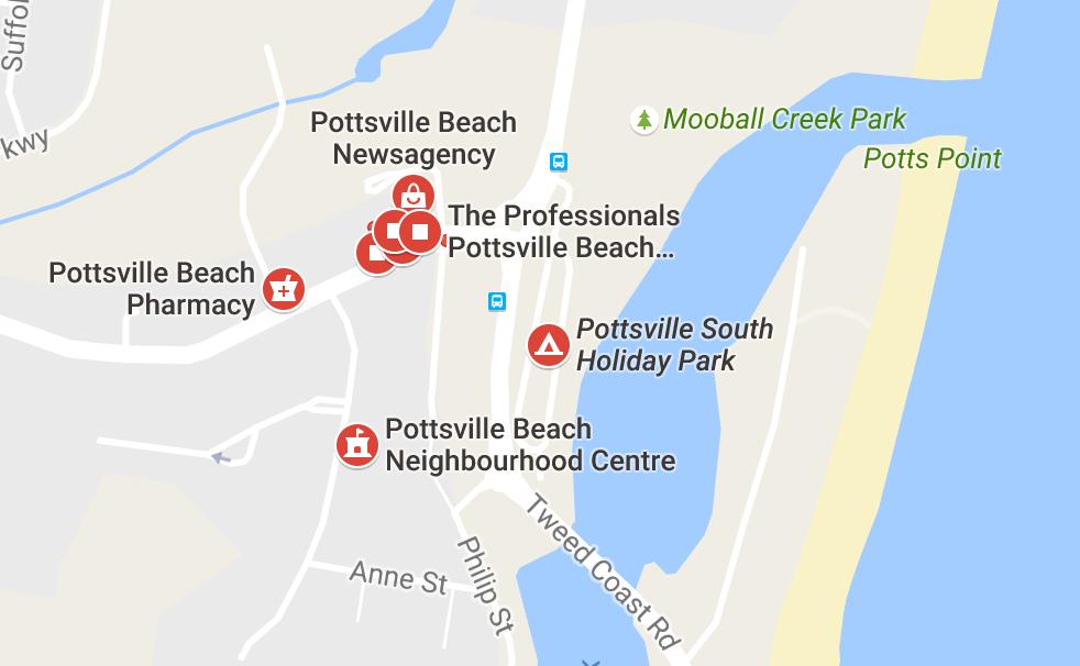 pottsville-beach-map
