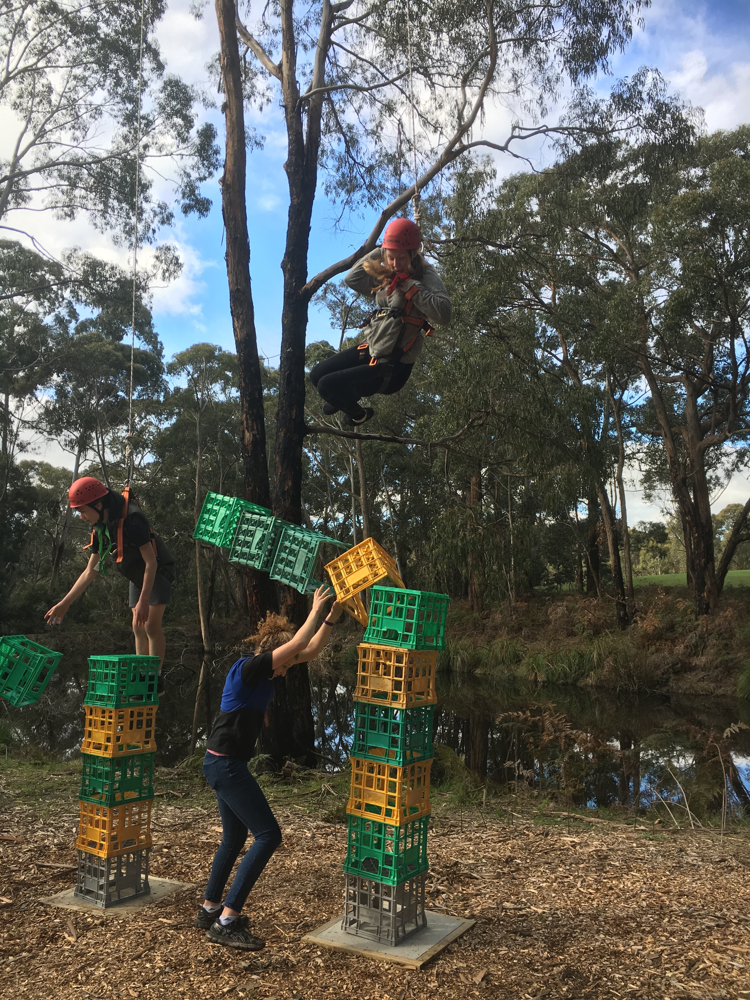 Crate Stacking can go wrong...