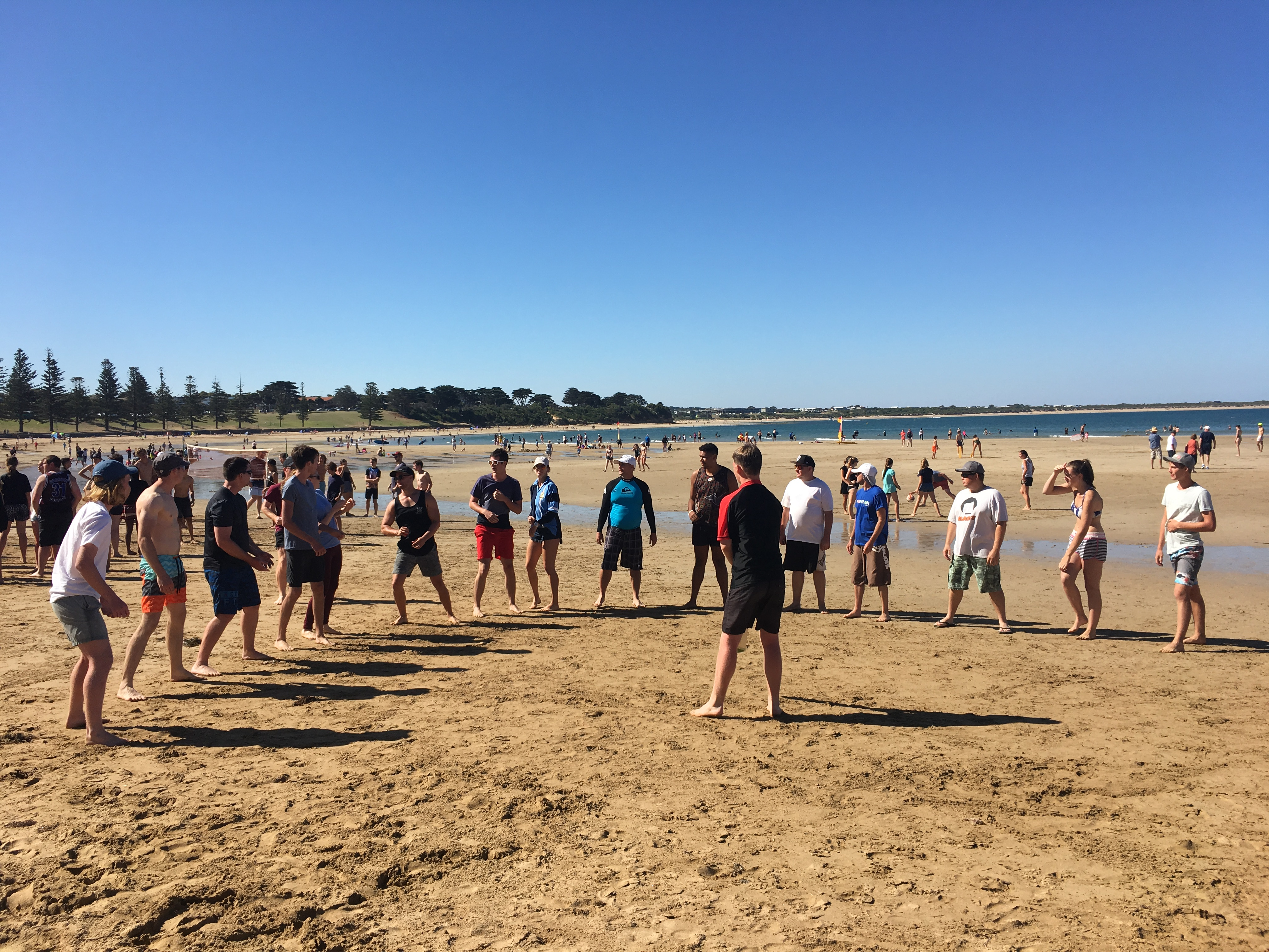 'Back of the Bus' Cricket on the Beach Day.