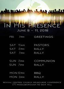 Revival Centes Church Conference 2018 Program - sm