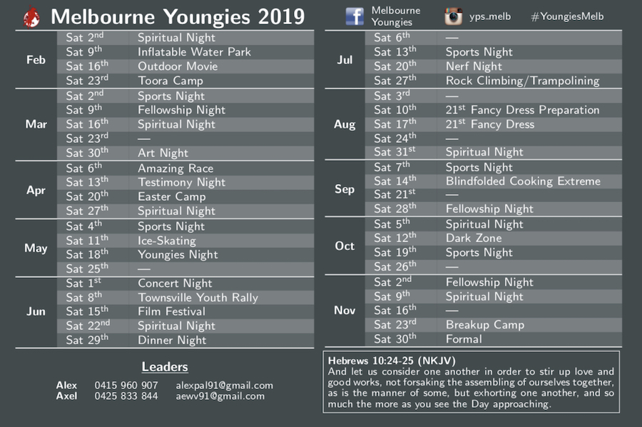 Melbourne Youth Group Activities
