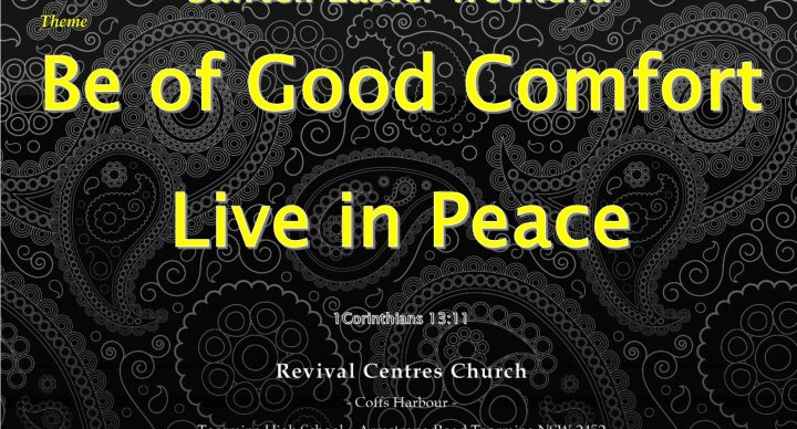 Be of Good Comfort - Live in Peace